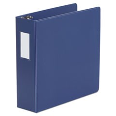 Deluxe Non-View D-Ring Binder with Label Holder, 3 Rings, 3