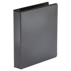 Universal Economy Round Ring View Binder, 3 Rings, 1.5  Capacity, 11 X 8.5, Black