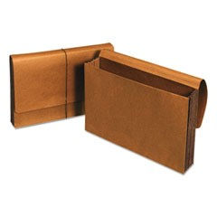 "Extra Wide Expanding Wallets, 5.25"" Expansion, 1 Section, Legal Size, Redrope"