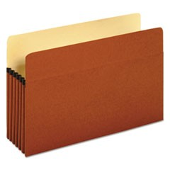 "Redrope Expanding File Pockets, 5.25"" Expansion, Legal Size, Redrope, 10/Box"