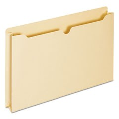 Economical Manila File Jackets, Straight Tab, Legal Size, Manila, 50/Box