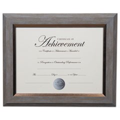 2-Tone Document Frame, 8 1/2 x 11 Insert, Gray/Gold Frame