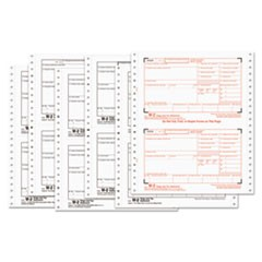 W-2 Tax Forms, 6-Part Carbonless, 8 1/2 x 5 1/2, 600 W-2s & 10 W-3s
