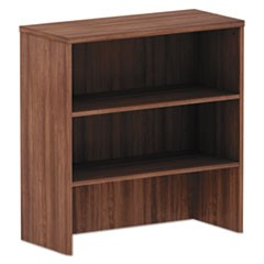 Alera Valencia Series Hutch, 3 Compartments, 34.13W X 15D X 35.38H, Modern Walnut