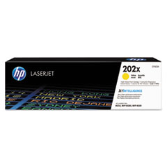 HP 202X, (CF502X) High Yield Yellow Original LaserJet Toner Cartridge