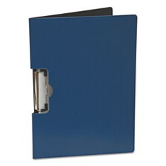 "Portfolio Clipboard With Low-Profile Clip, 1/2"" Capacity, 11 x 8 1/2, Blue"