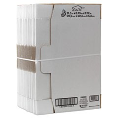 "Self-Locking Mailing Box, Regular Slotted Container (RSC), 11.5"" x 8.75"" x 2.13"", White, 25/Pack"