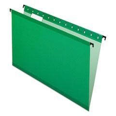 "SureHook Hanging Folders, Legal, 3/4"" Expansion, 1/5 Tab, Bright Green, 20/Box"