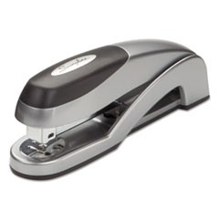 Optima Desk Stapler, Full Strip, 25-Sheet Capacity, Silver