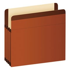 Premium Reinforced Expanding File Pockets, Straight Cut, 1 Pocket, Legal, Brown
