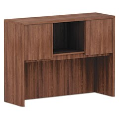 Alera Valencia Series Hutch, 3 Compartment, 47w x 15d x 35 1/2h, Modern Walnut