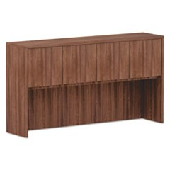 Alera Valencia Series Hutch, 3-Comp, 64 3/4 x 15 x 35 1/2, Mod Walnut