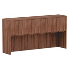 Alera Valencia Series Hutch, 3-Comp, 70 5/8 x 15 x 35 1/2, Mod Walnut