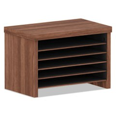 Alera Valencia Series Under-Counter File Organizer, 15 3/4w x 9 7/8d x 10 7/8h, Modern Walnut