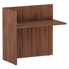 Alera Valencia Series Reversible Reception Return, 44 1/8w x 23 5/6d x 41 1/2h, Modern Walnut