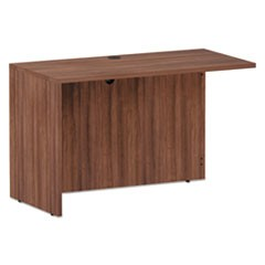 Alera Valencia Series Reversible Return/Bridge Shell, 47 1/4w x 23 5/8d x 29 1/2h, Modern Walnut