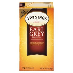Tea Bags, Earl Grey, 1.76 oz, 25/Box