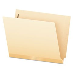 Laminated Spine End Tab Folder with 1 Fastener, 11 pt Manila, Letter, 50/Box