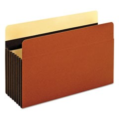 "Heavy-Duty File Pockets, 7"" Expansion, Legal Size, Redrope, 5/Box"
