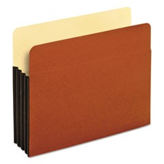 File Pocket with Tyvek, Straight Cut, 1 Pocket, Letter, Brown