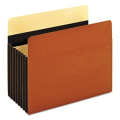 Heavy-Duty File Pockets, 1 Pocket, Letter, Redrope