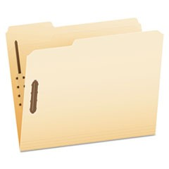 Manila Folders with Two Fasteners, 1/3-Cut Tabs, Letter Size, 50/Box
