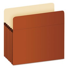 Standard Expanding File Pockets, Manila, Straight Cut, Letter, Redrope, 10/Box