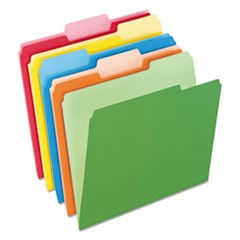 Colored File Folders, 1/3-Cut Tabs, Letter Size, Assorted, 100/Box