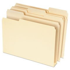 Double Stuff File Folders, 1/3 Cut, Letter, Manila, 50/Pack