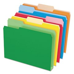 Double Stuff File Folders, 1/3-Cut Tabs, Letter Size, Assorted, 50/Pack
