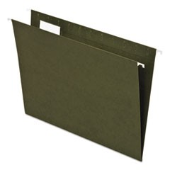 Earthwise by Pendaflex 100% Recycled Colored Hanging File Folders, Letter Size, 1/5-Cut Tab, Green, 25/Box