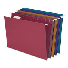 Earthwise by Pendaflex 100% Recycled Colored Hanging File Folders, Letter Size, 1/5-Cut Tab, Assorted, 20/Box