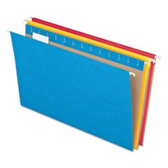 Colored Hanging Folders, Letter Size, 1/5-Cut Tab, Assorted, 25/Box