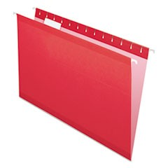 Colored Reinforced Hanging Folders, Legal Size, 1/5-Cut Tab, Assorted, 25/Box