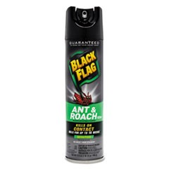 Black Flag Ant & Roach Killer, 17.5 oz, Aerosol, 12/Carton