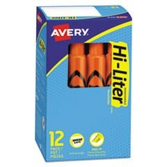 HI-LITER Desk-Style Highlighters, Chisel Tip, Fluorescent Orange, Dozen