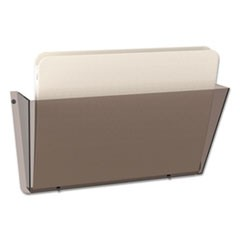 Unbreakable DocuPocket Wall File, Letter, 14 1/2 x 3 x 6 1/2, Smoke