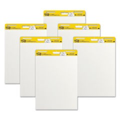Self Stick Easel Pads, 25 x 30, White, 30 Sheets, 6 Pads/Carton