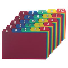 Oxford Card Guides, Alpha, 1/5 Tab, Polypropylene, 3 X 5, 25/Set