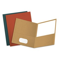 Earthwise by Oxford Recycled Paper Twin-Pocket Portfolio, Assorted Colors, 25/BX