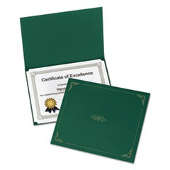Certificate Holder, 11 1/4 x 8 3/4, Green, 5/Pack
