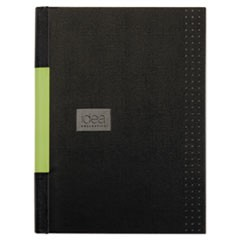 Idea Collective Professional Casebound Hardcover Notebook, 11 3/4x8 1/4, Black
