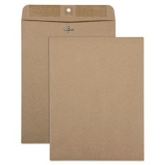 100% Recycled Brown Kraft Clasp Envelope, #90, Cheese Blade Flap, Clasp/Gummed Closure, 9 x 12, Brown Kraft, 100/Box