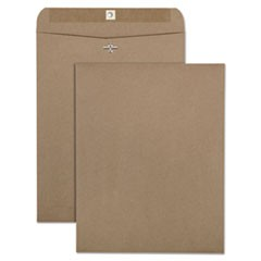 100% Recycled Brown Kraft Clasp Envelope, 10 x 13, Brown Kraft, 100/Box