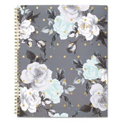 Tea Time Weekly/Monthly Planner, 8 1/2 x 11, Gold/Gray/White, 2019