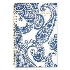 Paige Weekly/Monthly Planner, 4 7/8 x 8, Navy, White, 2019
