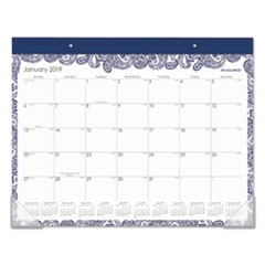 Paige Desk Pad, 22 x 17, Blue