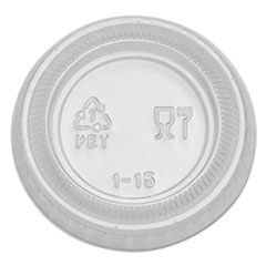 Plastic Portion Cup Lid, Fits 1 oz Portion Cups, Clear, 4800/Carton
