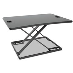 "AdaptivErgo Ultra-Slim Sit-Stand Desk, 31 1/3"" x 22"" x 15 3/4"", Black"