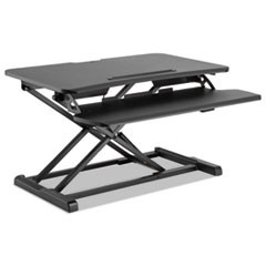 "AdaptivErgo Sit-Stand Workstation, 31 1/2"" x 26 1/8"" x 19 7/8"", Black"